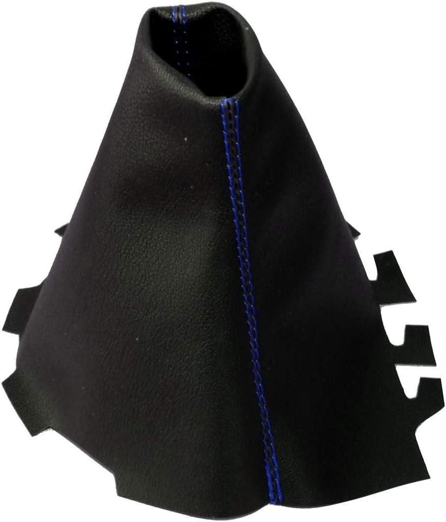 Schwarz Schaltmanschette aus Kunstleder mit Rot Nahten Aerzetix