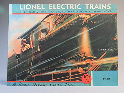 (LIONEL PREWAR 1932 CATALOG COVER IRON WALL HANGING metal sign train 9-42065)