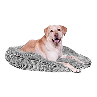 My Doggy Place - Ultra Absorbent, Soft Comfort, Microfiber Chenille Dog Bed Cushion Mat, Durable, Quick Drying, Washable, (Gray 24  inches)