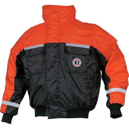 - Mustang Survival Classic Bomber Jacket (Orange/Black, Large)