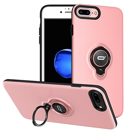 iPhone 8 Plus Case, iPhone 7 Plus Case With Ring Holder Kickstand, 360