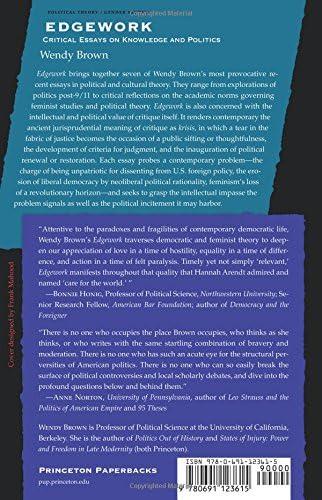 Critical edgework essay knowledge politics essay on values of books