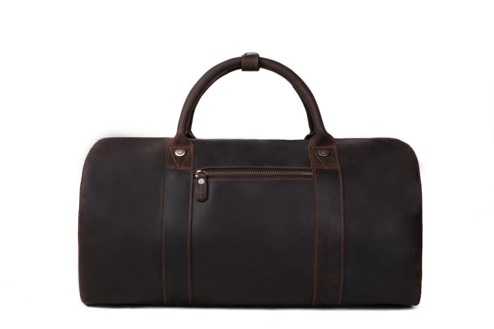HandMadeCart Leather Travel Bag For Men Weekend Bag Overnight Bag Holdall Bag 8643 by HandMadeCart