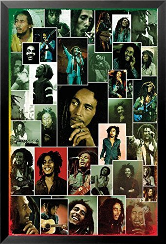 FRAMED Bob Marley Photographic Collage 36x24 Music Art Print