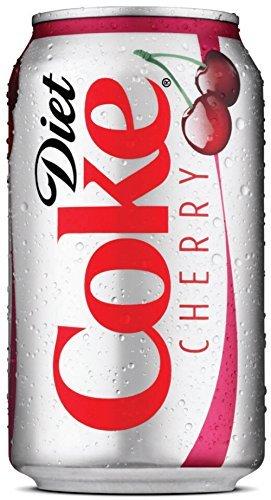 Coke Diet Cherry Soda, 12 oz Can (Pack of 24)