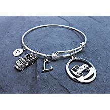 Jeep Charm Bracelet Personalized - Expandable Bangle - Choose Style Stainless Steel Options