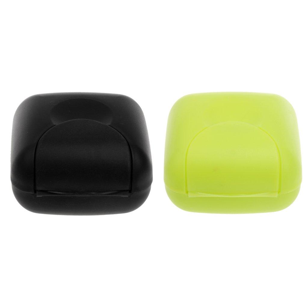 Gazechimp 2pcs Caja de Jabonera de Viaje Contenedores de Ducha Casa de Baño Accesorio de Higiene