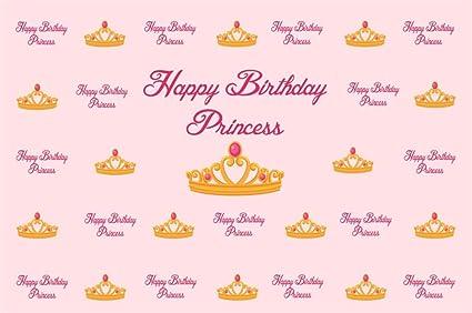 amazon com aofoto 7x5ft happy birthday princess backdrop little