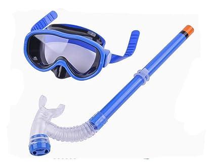 d1199f56a80 YuKing Kids Silicone Scuba Swimming Swim Diving Mask Snorkel Glasses Set  Anti Fog Goggles (Blue