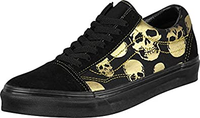 9cb72f36d2 Vans Old Skool (Multi Skull) Black Rich Gold Shoe (UK12)  Amazon.co ...
