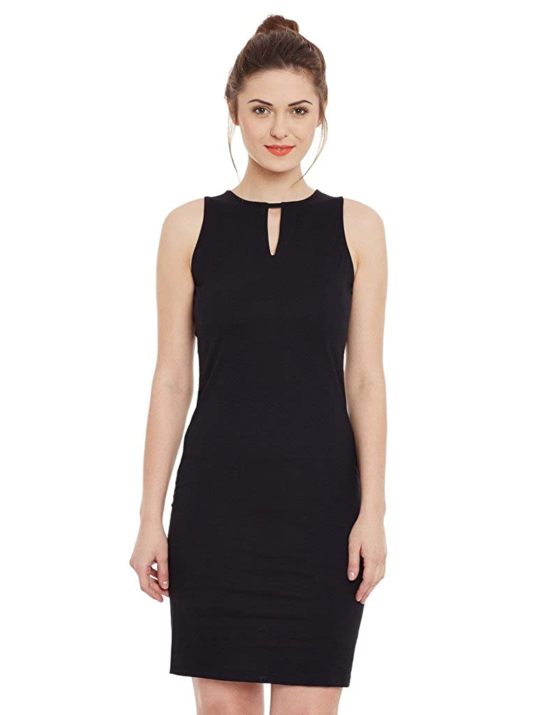 Miss Chase Womens Black Bodycon Dress