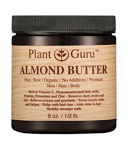 Almond Body Butter 8 oz 100% Pure Raw Fresh Natural Cold Pressed. Skin, Hair, Nail Moisturizer, For DIY Creams, Lip Balms, Lotions and Soap Making