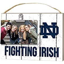 """KH Sports Fan 10"""" x 8"""" Notre Dame Fighting Irish Clip It Weathered Logo Collage Photo Frame"""