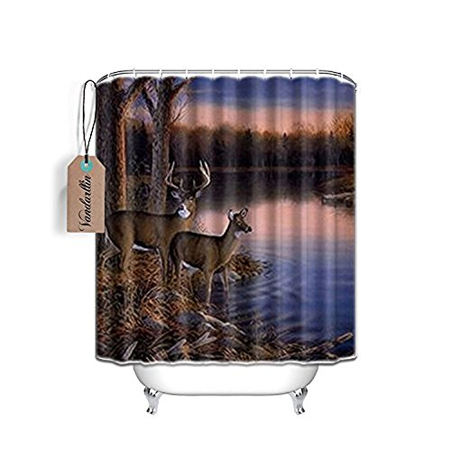 Good Personalized Rivers Edge Products Deer Mildew Resistant Fabric Bath Shower Curtain 72 X 84