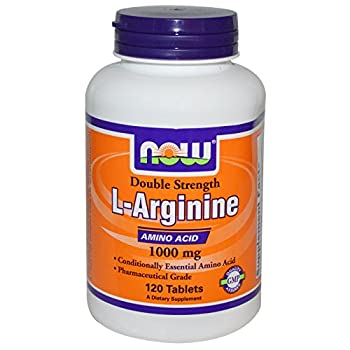 Arginine 1000mg - Now Foods - 120 Tablets (Pack of 3)