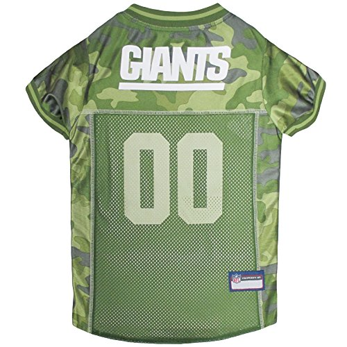 NFL New York Giants Camouflage Dog Jersey, Medium. - CAMO PET Jersey Available in 5 Sizes & 32 NFL Teams. Hunting Dog Shirt