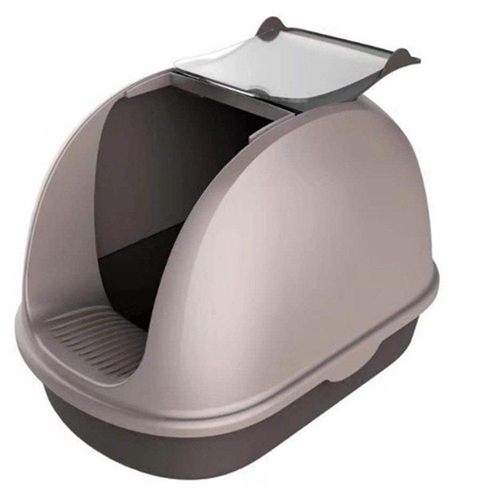 QNMM Cat Litter Bowl Pet Front Flap Super Large Closed Trash Can Anti-Splash Detachable Litter Box Suitable For Most Cat Pets
