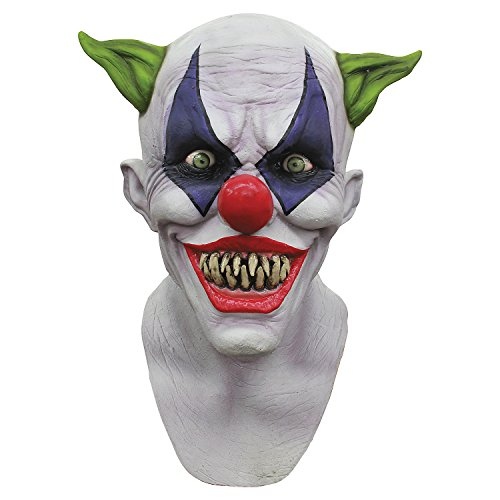 GnG's Creepy Giggles Scary Clown Mask Halloween horror Circus Clown Full Head Latex Mask -