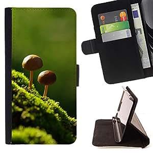 - Nature Beautiful Forrest Green 8 - - Monedero PU titular de la tarjeta de cr????dito de cuero cubierta de la caja de la bolsa FOR Samsung Galaxy S5 V SM-G900 RetroCandy