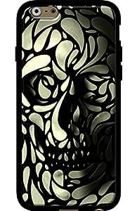 El Kase Collection–Carcasa para Apple iPhone 6/6S, Negro Mate, revestimiento de silicona diseño de calavera 4, de Ali Gulec Negro Única Talla