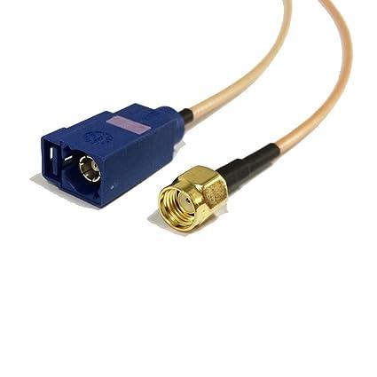 Amazon com: RP SMA Male Plug to Fakra C Female Coaxial Cable