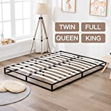 Mecor Modern Studio 6 inch Reinforced Platforma Low Profile Bed Frame, Mattress Foundation, Boxspring Optional, Wood Slat Support,Queen Size