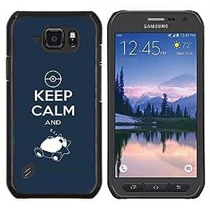 Stuss Case / Funda Carcasa protectora - Mantener la calma y Zzz - Samsung Galaxy S6Active Active G890A