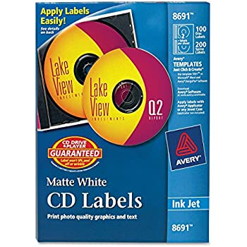 Amazon Avery Cd Labels Matte White 40 Disc Labels And 80