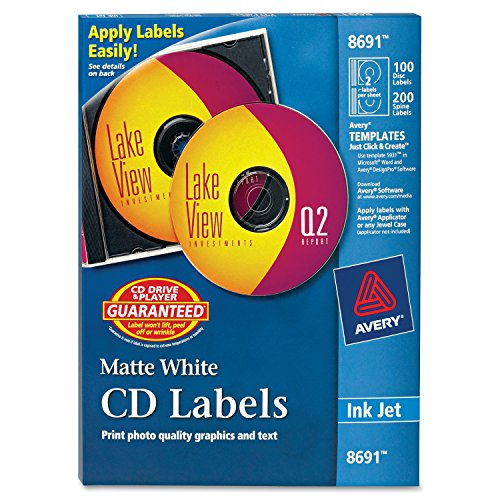(Avery CD Labels - 100 Disc labels & 200 Spine labels (8691))