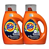 Tide Laundry Detergent Liquid Plus Febreze Sport Active Fresh Scent, HE Turbo Clean, 46 oz, 29 Loads - 2-pack (Packaging May Vary)