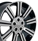 20x9.5 Wheel Fits Land Rover - Range Rover Stormer Style Black w/Mach'd Face Rim