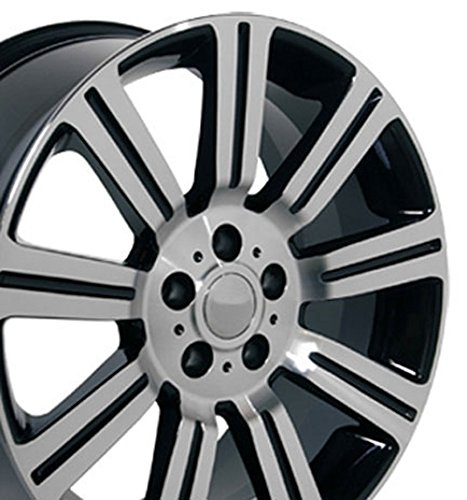20×9.5 Wheels Fit Land Rover – Range Rover Stormer Style Black w/Mach'd Face Rims – SET