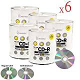 Smart Buy CD-R 3000 Pack 700mb 48x Diamond Shiny Silver Blank Recordable Media Discs, 3000 Disc, 3000pk