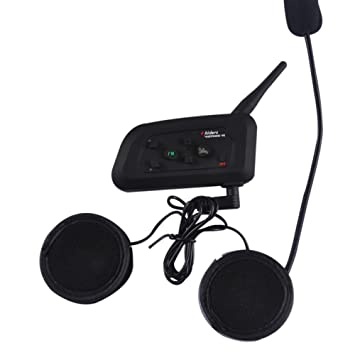 VNETPHONE 1200 m Interphone auriculares inalámbricos Bluetooth Impermeable Motocicleta Casco BT de comunicación de dúplex completo