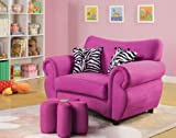 Acme 59007 Lucy Microfiber Youth Ottoman, Pink