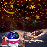 Kids Night Light for Girls, Boys, Babies, Toddlers, 4 LED Bulbs Moon Star Projector Night Light Lamp for Kids Bedroom, Nursery -Bonus Wall Charger, 4.9 ft USB Cable, Best Gift Idea Ever BELUN