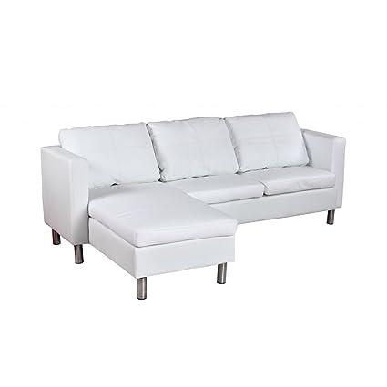 Vidaxl Wohndesign Ecksofa Lounge Sofa Kunstledermix Relax Liege Wohnlandschaft Weiss
