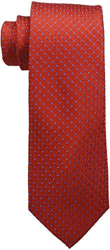 (Tommy Hilfiger Men's Connected Dot Tie, Red, One Size)