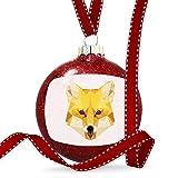 Christmas Decoration Geometric Animal art Fox Ornament