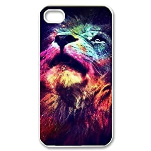 Lion Unique Fashion Printing Phone Case for Iphone 4,4S,personalized cover case ygtg541388