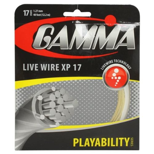 Gamma Live Wire XPテニス文字列セット、ナチュラル、1.27 MM B00OK1N1JW