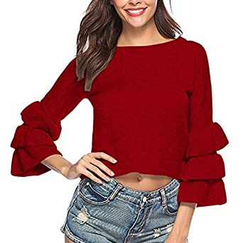 QIYUN.Z Moda para Mujer Suéter de Punto Suelta O-Cuello Suéter ...