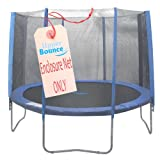 Upper Bounce Trampoline Enclosure Net is a must to have to ensure your family's safety!Fits for a 14 FT. Trampoline Frame with 8 Poles.Net features a perfect height which gives a 100% assurance of keeping a person safe inside while jumping! You can n...