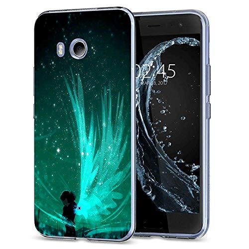 (SunbirdsEast Customize Design Dream Wings HTC U11 Case for HTC U11,Clear TPU Protective Phone Case)