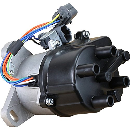 AIP Electronics Complete Premium Electronic Ignition Distributor Compatible Replacement For 1992-1995 Acura Integra GSR Honda Civic Del Sol 1.6L VTEC TD-68U TD-44U OBD1 Oem Fit DTD44