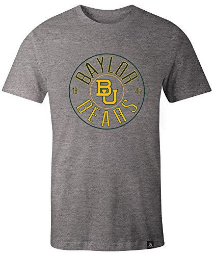NCAA Baylor Bears Adult NCAA Circles Image One Everyday Short sleeve T-Shirt, Large,HeatherGrey