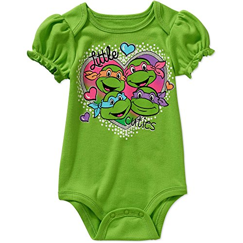 Teenage Mutant Ninja Turtles Baby Girls Bodysuit One Piece Dress Up Outfit Green (12 Months) (Tmnt Outfit)