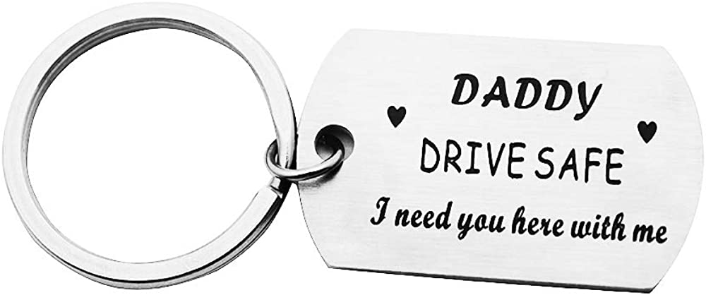 Drive Safe Keychain I Need You Here with Me Trucker Driver Keychain Keyring Dad Gifts Personalized Men Gifts for Boyfriend