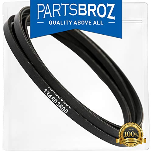 134503600 Dryer Drum Belt for Frigidaire & Electrolux Dryers by PartsBroz - Replaces AP3865318, 1156784, 134163400, 148270, 148270-000, 5303283471, AH1148434, EA1148434, PS1148434