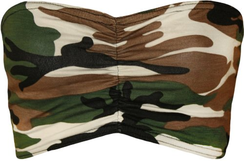 WearAll Women's Print Boob Tube Top - Camouflage - US 2-4 (UK - Bandeau Cheetah
